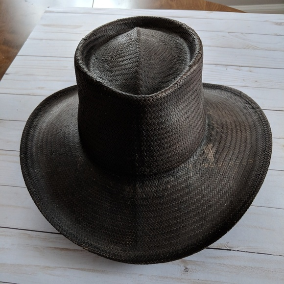 e95905619ac Scala Black Straw Cowboy Hat. M 5b9d98d93e0caa6e42ee3675